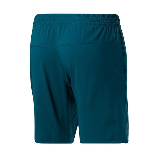 Reebok Mens Workout Ready Woven Shorts, Green, rebel_hi-res