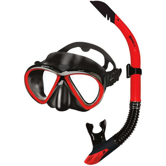 Mares Bonito Mask and Snorkel Black / Red, , rebel_hi-res