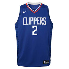 Nike Los Angeles Clippers Kawhi Leonard 2020/21 Kids Icon Swingman Jersey Blue S, Blue, rebel_hi-res