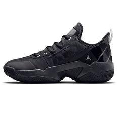 Jordan One Take II Kids Basketball Shoes Black US 4, Black, rebel_hi-res