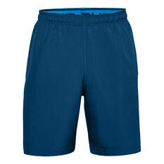 Under Armour Mens Woven Graphic Shorts Blue XS, Blue, rebel_hi-res