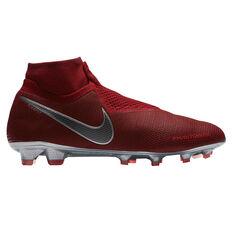 Nike Phantom Vision Elite Dynamic Fit Mens Football Boots Red / Grey US 7, Red / Grey, rebel_hi-res
