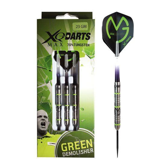 XQ Darts Michael van Gerwen Green Demolisher Darts, , rebel_hi-res