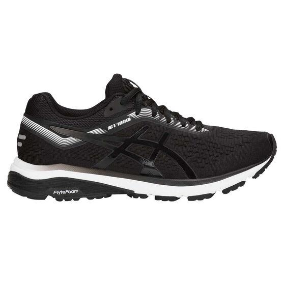 Asics GT 1000 7 Womens Running Shoes, Black, rebel_hi-res