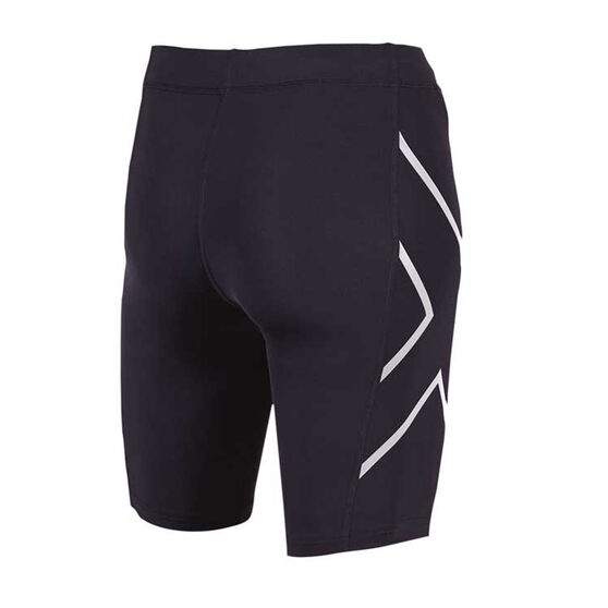 2XU Womens Compression Shorts, Black / Silver, rebel_hi-res