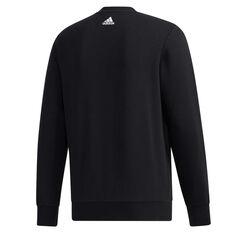 adidas Mens Must Haves Badge of Sport Sweatshirt Black S, Black, rebel_hi-res