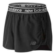 New Balance Womens Accelerate 2.5in Shorts Black XS, Black, rebel_hi-res