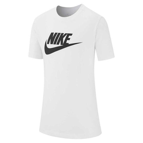 Nike Sportswear Boys Futura T-Shirt, White / Black, rebel_hi-res
