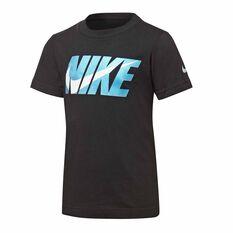 Nike Boys Block Swoosh Tee Black 4, Black, rebel_hi-res