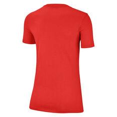 Nike Womens Just Do It Swoosh Tee, Red, rebel_hi-res