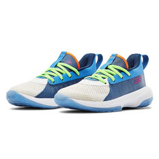 Under Armour Curry 7 Kids Basketball Shoes, Multi, rebel_hi-res
