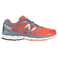 New Balance 860 Mens Running Shoes Black / Orange US 7, Black / Orange, rebel_hi-res