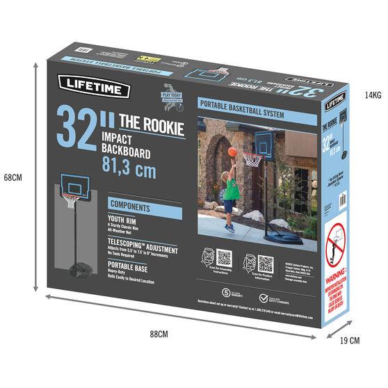 """Lifetime 32"""" Rookie Basketball System, , rebel_hi-res"""