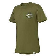 New York Yankees Mens Kardy Tee Green S, Green, rebel_hi-res