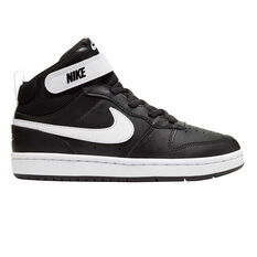 Nike Court Borough Mid 2 Kids Casual Shoes Black / White US 12, Black / White, rebel_hi-res