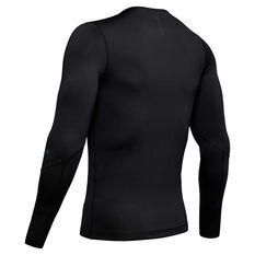 Under Armour Rush Mens Long sleeve Compression Tee Black XL, Black, rebel_hi-res