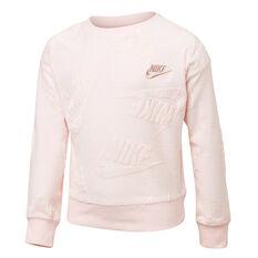 Nike Sportswear Girls Futura Novelty Sweatshirt Pink 4, Pink, rebel_hi-res