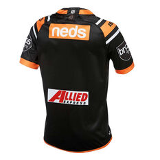 Wests Tigers 2019 Mens Home Jersey Orange / Black S, Orange / Black, rebel_hi-res