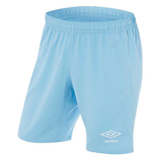 Umbro Mens League Knit Shorts, Sky Blue, rebel_hi-res