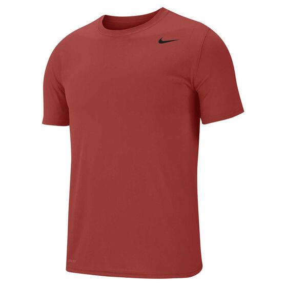 Nike Mens Legend Dri-FIT Training Tee Dune Red S, Dune Red, rebel_hi-res