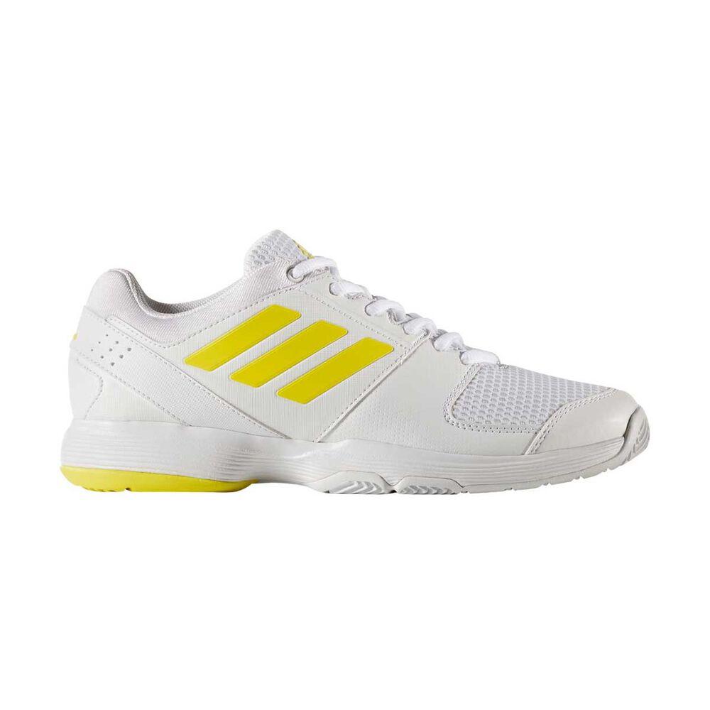 657e5be7a adidas Barricade Court Womens Tennis Shoes White / Yellow US 6.5, White /  Yellow,