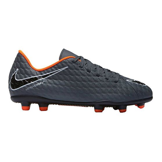 fb1760f6433 Nike Hypervenom Phantom III Club FG Junior Football Boots Grey   White US  10 Junior