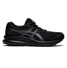 Asics Contend 7 Kids Running Shoes Black US 1, Black, rebel_hi-res