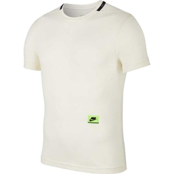 Nike Mens Dri-FIT Short-Sleeve Training Top, Ivory, rebel_hi-res