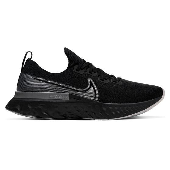 Nike React Infinity Run Flyknit Mens Running Shoes, Black / Grey, rebel_hi-res