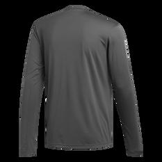 adidas Mens Own The Run Long Sleeve Tee Grey S, Grey, rebel_hi-res