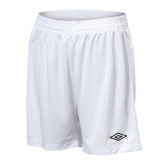 Umbro League Kids Football Shorts, White, rebel_hi-res