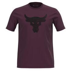 Under Armour Mens Project Rock Brahma Bull Tee Purple S, Purple, rebel_hi-res