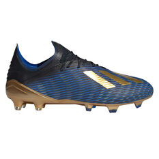 adidas X 19.1 Mens Football Boots Black / Gold US Mens 7 / Womens 8, Black / Gold, rebel_hi-res