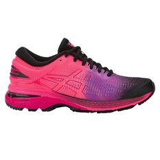 Asics GEL Kayano 25 Womens Running Shoes Black / Pink US 6, Black / Pink, rebel_hi-res