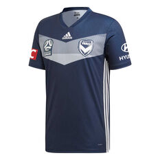 Melbourne Victory FC 2019/20 Mens Home Jersey Navy S, Navy, rebel_hi-res