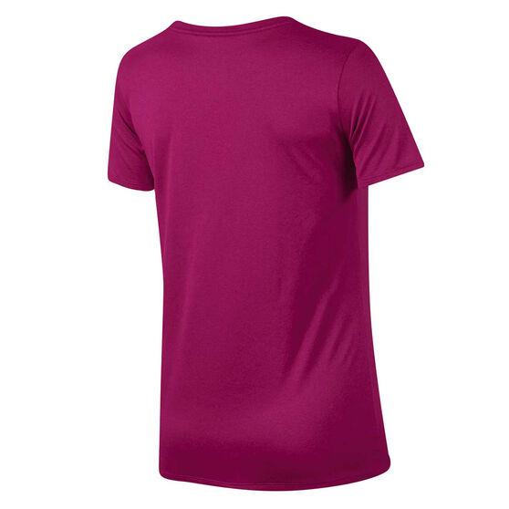 Nike Womens Dry Training Tee, Pink, rebel_hi-res