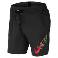 Nike Mens Air Flash Flex Stride 7in Running Shorts Black M, Black, rebel_hi-res