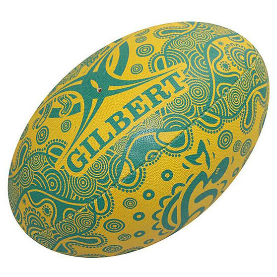 Gilbert Wallabies Indigenous Supporter Rugby Union Ball, , rebel_hi-res