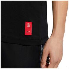 Nike Mens Dri-FIT Kyrie Logo Basketball Tee, Black, rebel_hi-res