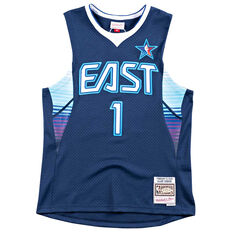 NBA All-Star East 2009 Allen Iverson Swingman Jersey Navy / Blue S, Navy / Blue, rebel_hi-res