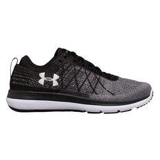 Under Armour Threadborne Fortis 3 Womens Running Shoes Black / Grey US 6, Black / Grey, rebel_hi-res