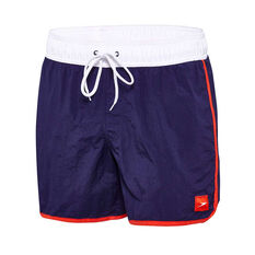 Speedo Mens Wave Board Shorts Navy / White S, Navy / White, rebel_hi-res