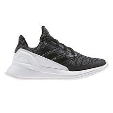 adidas Rapidarun Knit Kids Training Shoes Black / White US 11, Black / White, rebel_hi-res
