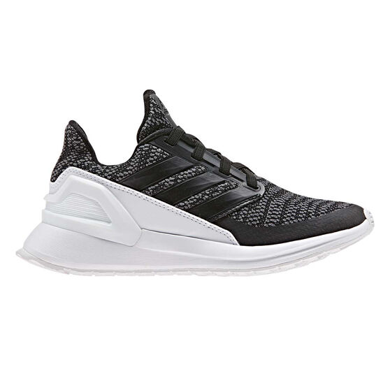 adidas Rapidarun Knit Kids Training Shoes, Black / White, rebel_hi-res