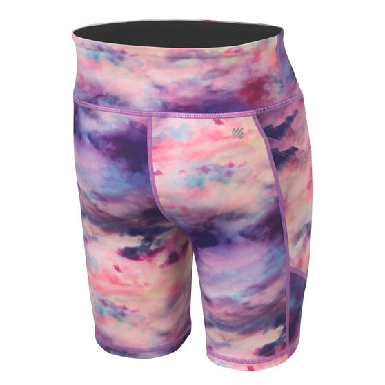 Ell and Voo Girls 7in Bike shorts, Multi, rebel_hi-res