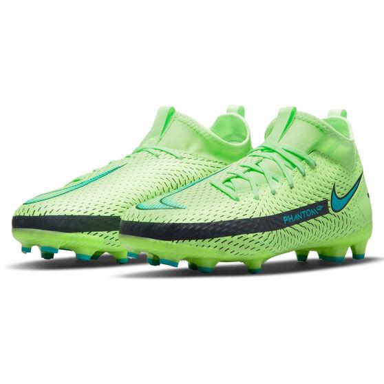 Nike Phantom GT Academy Dynamic Fit Kids Football Boots, Green/Blue, rebel_hi-res