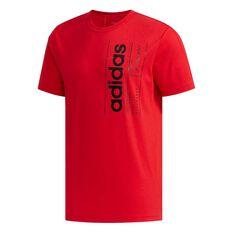 adidas Mens BB Tee Red / Black XS, Red / Black, rebel_hi-res