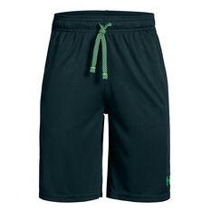 Under Armour Boys Prototype Wordmark Training Shorts Green XS, Green, rebel_hi-res