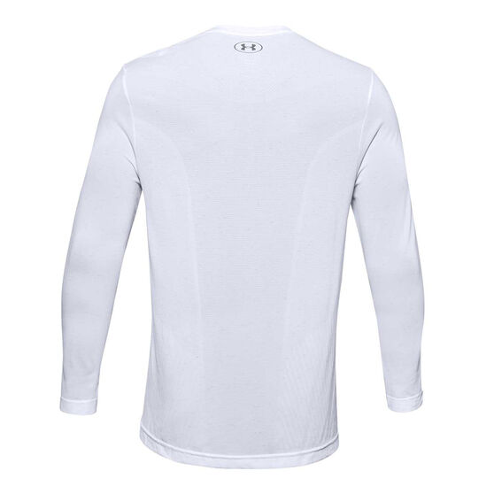 Under Armour Mens Seamless Top, White, rebel_hi-res