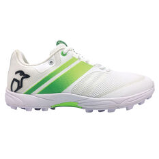 Kookaburra Pro 2.0 Rubber Cricket Shoes White/Lime US 7, White/Lime, rebel_hi-res